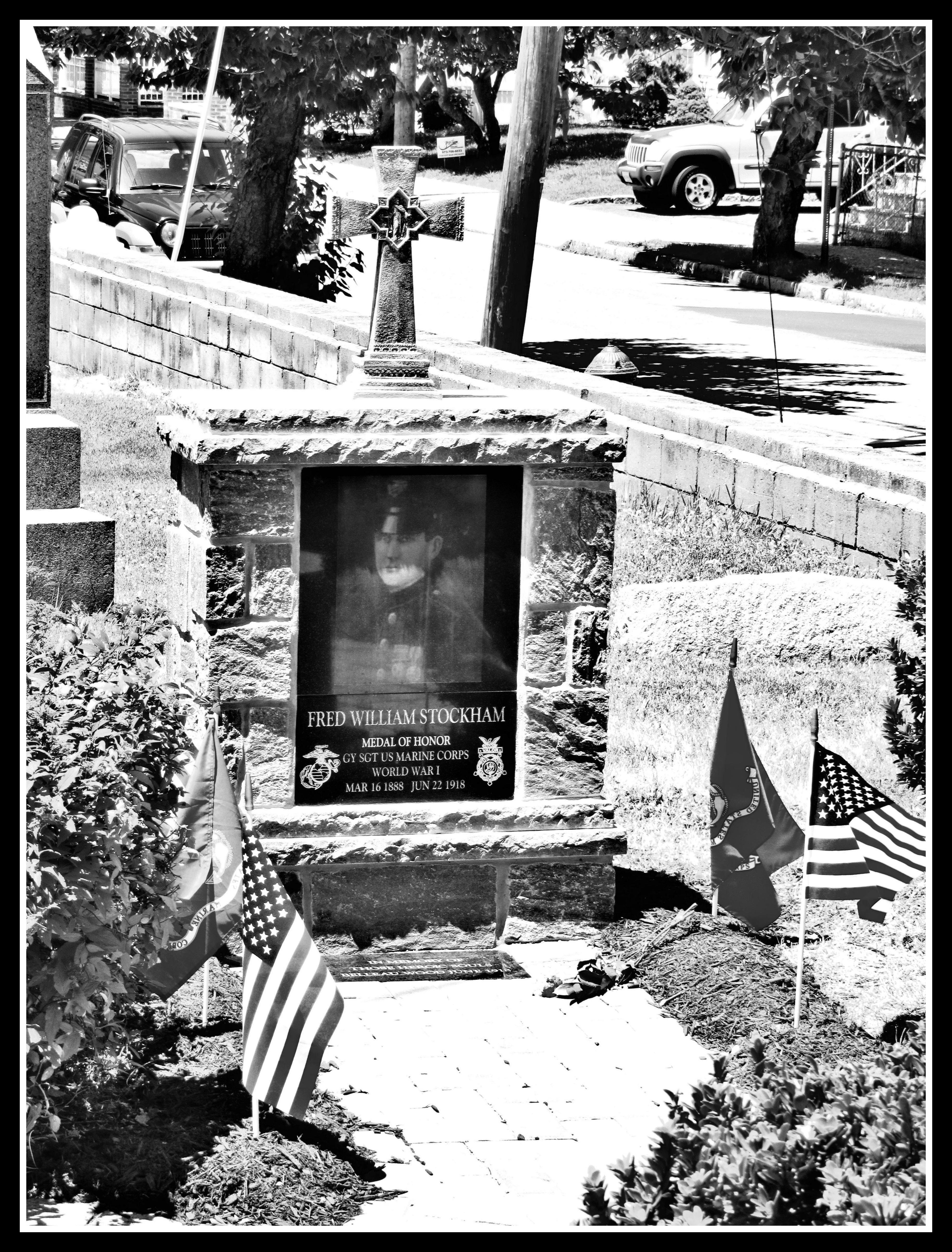 Memorial - Medal of Honor - Fred W. Stockham, Belleville NJ
