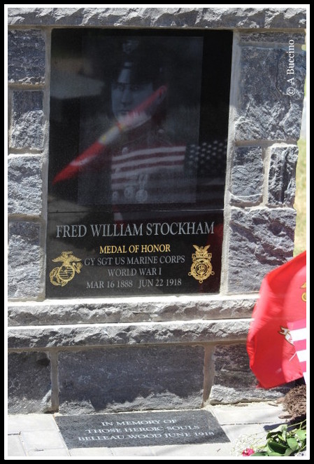 Fred William Stockham memorial, Belleville, NJ -by Anthony Buccino